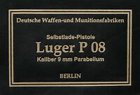 PISTOL GUN PRESENTATION CASE BOX LUGER P08 LABEL parabellum