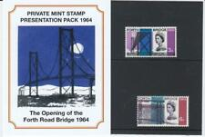 GB 1964 THE OPENING OF FORTH ROAD BRIDGE PRIVATE PRESENTATION PACK SG 659 660