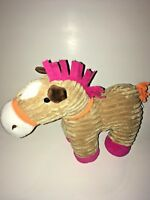 "Sound And Light Brown And Pink Corduroy Horse   11"" Plush Stuffed Animal"