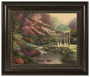 Thomas Kinkade Pools of Serenity 16 x 20 Brushstroke Vignette (Framed)