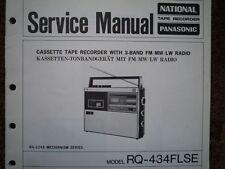 Panasonic RQ -434 flse Cassetta Registratore Manuale Servizio diagramma di cablaggio parti