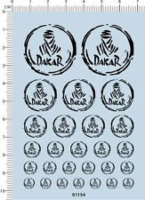Detail Up 1/24 1/18 1/10 Dakar for different scales Model Car Water Slide Decal