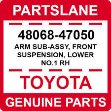 48068-47050 Toyota OEM Genuine ARM SUB-ASSY, FRONT SUSPENSION, LOWER NO.1 RH