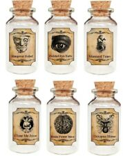 """Halloween 12 mini 2"""" bottles with labels party favor"""