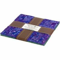 "Artisan Batiks From Robert Kaufman - Serenity Lake - 10"" Squares Layer Cake"
