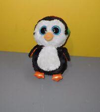 "Ty Beanie Boos NORTH the Penguin 9"" Medium size Bean Stuffed Christmas Plush"