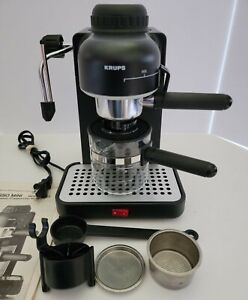 KRUPS 963 Mini Espresso Cappuccino Machine Excellent Condition - Black
