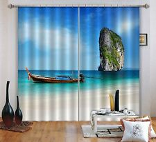 3D Rock Ferry 4 Blockout Photo Curtain Printing Curtains Drapes Fabric Window AU