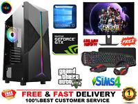 ULTRA FAST i5 i7 Gaming Computer FullSet PC 2TB + SSD 16GB RAM 6GB GTX1660 Win10