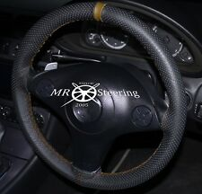 Cubierta del Volante Cuero Perforado Para Mazda MX5 MK2 98-05 con correa marrón