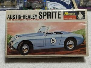 MONOGRAM MODEL KIT AUSTIN-HEALEY SPRITE 1/32  POPULAR SPORTS CAR, IN PLASTIC