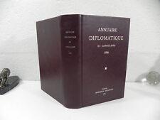 ANNUAIRE DIPLOMATIQUE ET CONSULAIRE de la republique Française 1986