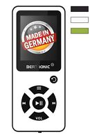 BERTRONIC Made in Germany BC03 MP3-Player - Weiss - 100h - mit Schrittzähler FM