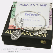 Authentic Alex and Ani Friend (II)  Rafaelian Silver ExpandableCharm Bangle