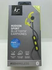 KitSound Hudson Bluetooth Sports Headphones - Grey Sweat Resistant Premium