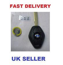 BMW Diamond Remote Key  3 Button E46  Z3 Repair kit Uncut case Fob Battery New!!