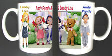 ANDY PANDY LOOBY LOU WATCH WITH MOTHER COLLECTORS COFFEE MUG. LIMITED EDITION