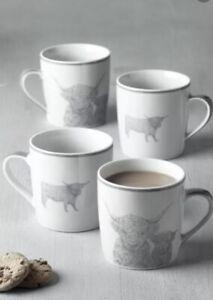 NEW Next Set Of 4 Hamish Mugs BOXED.