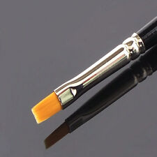 Gel Pinsel gerade flach Modellage UV Gel Acryl Nageldesign Fullcover One Stroke