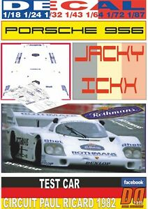DECAL PORSCHE 956 ROTHMANS TEST CAR J.ICKX PAUL RICARD 1982 (06)