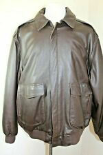 ORVIS COMPANY A-2 FLY FISHING SCHOOL BROWN XLARGE LEATHER JACKET