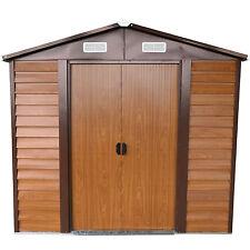 8'x6' Outdoor Storage Shed Utility Tool Backyard Garage W/Door Window Wood Color