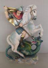 Heiliger Georg mit Drachen ca. 45 cm hoch, Holz geschnitzt bemalt, Namenspatron