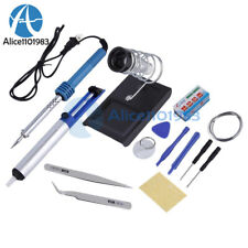 14 In1 60w 110v Electric Soldering Tools Set Iron Stand Desoldering Pump Kits
