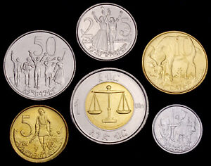 Ethiopia 1 Birr to 1 Santeem 2004 - 2010 UNC Set - 6 pcs (GLCS-003)