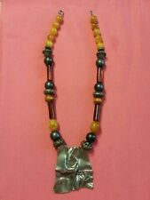 Antique OLD Amber Natural Beads & old other  beads  Necklace rare excellent.