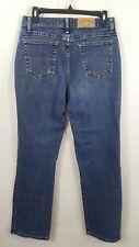 RIDERS by Lee Womens Jeans Size 10 M Straight Leg Dark Blue Wash Denim