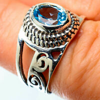 Blue Topaz 925 Sterling Silver Ring Size 6.5 Ana Co Jewelry R25395F