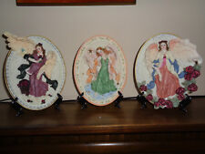Lot of 3 Handcrafted Angel Plates in Original Boxes