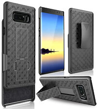 Black Kickstand Case + Belt Clip Holster for Samsung Galaxy Note 8 (SM-N950)
