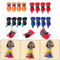 4Pcs Waterproof Pet Dog Polyester Shoes Anti-Slip Rain Snow Boots Footwear Socks