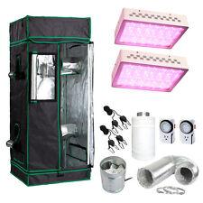 "48x48x80"" Grow Tent Kit w/ 600w LED Light & Fan + Carbon Filter Combo 4'x4'"