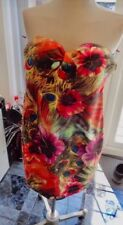 JAUNE ROUGE Summer Tropical Toucan Peacock Party Dress Size M Or UK 8-10