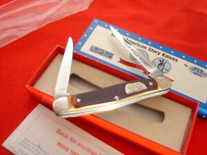 "Boker USA Made American Story 4"" Buffalo Bill Sitting Bull Muskrat Knife MIB"