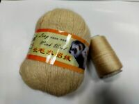 Hand Knitting Yarn Long Wool Mink For Sweater Scarf Hat Soft Cashmere Blended HQ