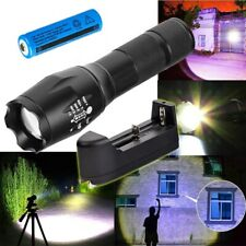 950000LM Tactical Zoom T6 Flashlight High Power LED Torch HeadLight Lamp+Charger