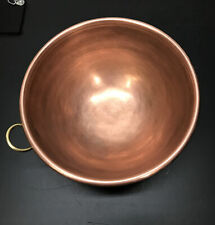"Large 10"" Solid Copper Mixing Bowl"
