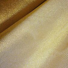 Metallic Gold-Soft Mesh Net Fabric Fairy Material 150 cm Wide-Sold Per Metre