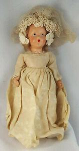 "Vintage Nancy Ann Hollywood Bride Doll  -  Bisque - 8"" -  1930-40's  -  Original"