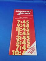 SOUTHWEST AIRLINES TIMETABLE SCHEDULE SEPTEMBER 1983 SAN FRANCISCO SAN DIEGO