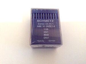 Schmetz Industrial Sewing Machine Needles 88X1 Nm 90/14 X 100-Singer 95K & 195K