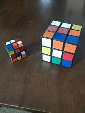 Rubiks Cubes Puzzles 1980's lot of two Regular And Mini