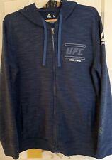 REEBOK UFC Blue HRSD 93 Hooded Sweatshirt Large