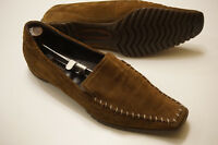Ecco womans 42 11 shoe brown suede moccasin loafer driving shoes