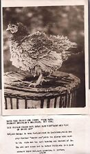 LOUISIANA 1925 CHICKEN BORN WITH FEATHERS INSIDE OUT FREAK WEIRD UNNATURAL PHOTO