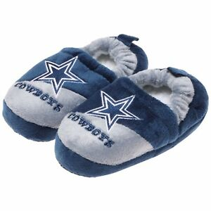 Dallas Cowboys NFL Boys' Colorblock Slippers, Size Large 11-12,  NWT